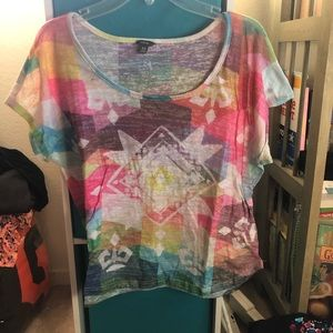 Multicolored crop top